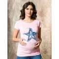 56937290 - Işşıl Hamile Yıldız Nakış T-Shirt - n11pro.com