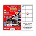 93827780 - Tanex TW-2312 Lazer Etiket 70 x 70 MM 100 Sayfa - n11pro.com