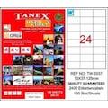 85522990 - Tanex TW-2037 Lazer Etiket 70 x 37.125 MM 100 Sayfa - n11pro.com