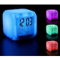80427202 - Renk Değiştiren Alarmlı Dijital Küp Saat - n11pro.com