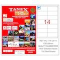02349987 - Tanex TW-2514 Lazer Etiket 105 x 38 MM 100 Sayfa - n11pro.com