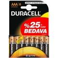 25981439 - Duracell Alkalin AAA İnce Kalem Pil 8'li Paket - n11pro.com