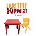 45833846 - Fiore Galatasaray Çocuk Masa Sandalye Takımı Sarı-Kırmızı - n11pro.com