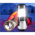 90394378 - Solar USB Şarj Edilebilir Kamp Feneri Işık 12 LED Lamba - n11pro.com