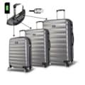 09322115 - My Valice Smart Bag Colors Usb Şarj Girişli Valiz Seti Antrasit - n11pro.com