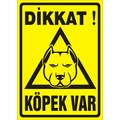 93271961 - Dikkat Köpek Var Uyarı Levhası (Pitbull) - n11pro.com