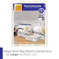 88154239 - Magic Saver Bag Tekli  Vakumlu Çantalı Hurç L Beyaz 45 x 40 x 25 CM - n11pro.com