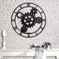 57705785 - Messken Metal Duvar Saati Şık ve Özgün Tasarım Siyah T58 - n11pro.com
