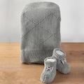 28036243 - Nazik Home Tiffany Organik Bebek Battaniyesi + Organik Yeni Doğan Örgü Bebek Patiği - n11pro.com