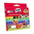 66076231 - Pritt 1655739 Jumbo Üçgen Silinebilir Pastel Boya 12 Renk - n11pro.com
