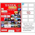87132891 - Tanex TW-2010 Lazer Etiket 99.06 x 57 MM 100 Sayfa - n11pro.com