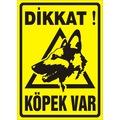 68723844 - Dikkat Köpek Var Uyarı Levhası (Kurt) - n11pro.com