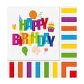07387875 - Renkli Doğum Günü Peçete 33 x 33 Cm - n11pro.com