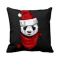 59768580 - Asr Yılbaşı Noel Baba Panda Kırmızı Şapka Saten Yastık - n11pro.com