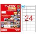 38187462 - Tanex TW-2533 Lazer Etiket 64.6 x 33.8 MM 100 Sayfa - n11pro.com