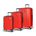 31233651 - My Valice Premium Abs 3'lü Valiz Seti Kırmızı - n11pro.com