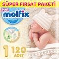 48802607 - Molfix Süper Fırsat Paketi No:1 Yenidoğan 2-5 KG 120'li - n11pro.com