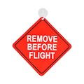 98430941 - THK Design Remove Before Flight Araba Levhası 14 X 14 CM - n11pro.com