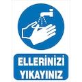 17192552 - Rüzgar Levha Ellerinizi Yıkanyınız Mavi - n11pro.com