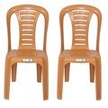 91009944 - Fiore Dinamik Eko Plastik Sandalye 2 Adet Teak Y88 x G41 x D43 CM - n11pro.com