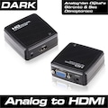 77498246 - Dark VGA to HDMI Aktif Dönüştürücü - n11pro.com