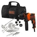 06989396 - Black+Decker Beh710Sa40 710 W 13 MM Darbeli Matkap - n11pro.com