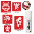 53430385 - One Spray Tattoo Geçici Dövme Seti Tribal Kurt Dövmesi - n11pro.com