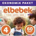31330260 - Elbebek Elite Bebek Bezi 4 Numara Maxi 60 Adet - n11pro.com