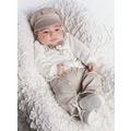 Orijinal Renk Papyonlu Yelekli Erkek Bebek 4 Parça Takım
