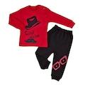 Erkek Kız Bebek Çocuk 2 li Alt Üst Baskılı Pijama Eşofman Takım