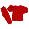 Yıldız Baskılı Çıtçıtlı Yakalı Kız Erkek Bebek (Pamuk) 2Li Pijama