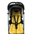 Pamuk Atölyesi Yeşil Orman ve Sarı Yıldızlı Bebek Arabası Minderi