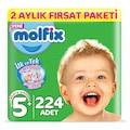 Molfix Bebek Bezi 5+ Beden Junior Plus 2 Aylık Fırsat Paketi 224