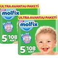 Molfix Bebek Bezi Ultra Avantaj Paketi Junior 5 No 108 li x 2 Ad