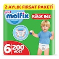 Molfix Külot Bez 6 Beden Ekstra Large 2 Aylık Fırsat Paketi 200 a