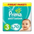 Prima Bebek Bezi 3 Beden 6-10 Kg 140 Adet Fırsat Paketi
