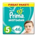 Prima Bebek Bezi 5 Beden 11-16 Kg 92 Adet Fırsat Paketi
