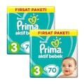 Prima Bebek Bezi Aktif Bebek 3-4-5 Beden 2li Fırsat Paketleri
