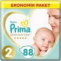 Prima Bebek Bezi Premium Care 2 Beden 88 Adet 4-8 KG