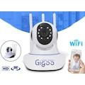 Gigoo HD 360° 3Antenli Hareket Nesne Takip Sensör IP Bebek Kamera