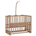 Babycom Naturel Ahşap Boyasız Anne Yanı Beşik 60 x 120 cm Kademel