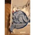 Nalia Bebe Sallanabilen Beyaz Bebek Beşiği - Mavi Uyku Setli