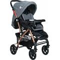 4 Baby Active Gold Çift Yönlü Alüminyum Bebek Arabası - Gri