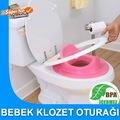 Kız Çocuklar İçin Klozet Oturağı Tuvalet Eğitim Adaptörü Pembe