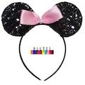 Pembe Payetli Astarlı Tütü Takım- Mickey Mouse