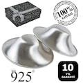 Gümüş Göğüs Ucu Koruyucu 925 Ayar Kapak Kapakları 10 Yıl Garanti