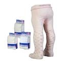 3adet çeşitli renk ve desenlerde 0-24Ay arası bebek külotlu çorap