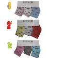 Kız Bebek 0-3 Ay Çiçek Desenli Bebek Çorabı/ Bebek Çorabı