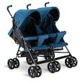 Babyhope 610 yan yana ikiz baston bebek arabası