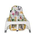 Pamuk Atölyesi Beyaz Orman ve Sarı Yıldız Mama Sandalyesi Minder